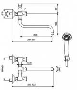 """Смеситель для ванной """"ВидимаПрактик"""" BA-229AA"""