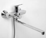 Смеситель для ванны WasserKRAFT с длинным поворотным изливом Lippe 4502L