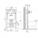 Инсталляция OLI 74 (0580*1150*0120), механическая