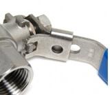 Кран шаровой с замком AISI 304 SM-SB1003 1/2 дюйма F-F (нержавеющая сталь)
