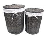Плетеные корзины для белья с крышкой WasserKRAFT Еlbe WB-740-L