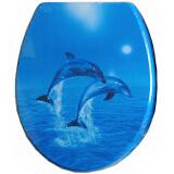 Сиденье для унитаза ST MDF-056 'Два дельфина'