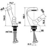 Смеситель для раковины MATRIX SMF-223700 'EXCLUSIVE'
