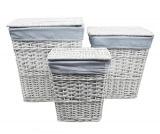 Плетеные корзины для белья с крышкой WasserKRAFT Lippe WB-450-M