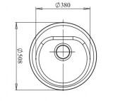 Мойка мрамор RONDO GF-R--510 GRANFEST графит
