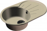 Мойка мрамор RONDO GF-R--750L  чаша с крылом GRANFEST бежевый