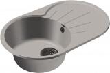 Мойка мрамор RONDO GF-R--750L  чаша с крылом GRANFEST серый