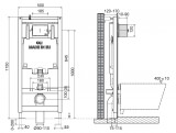 Инсталляция OLI 80 (0500/1150/0120), пневматическая Панель слива SALINA