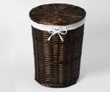 Плетеная корзина для белья с крышкой WasserKRAFT Еlbe WB-740-M