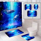 """Комплект штора и 2 коврика для ванной комнаты """"Океан-6"""""""
