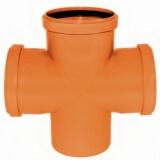 Крестовина канализационная РОССИЯ 110 мм угол 90 град. наружная