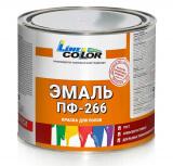 """Эмаль для пола ПФ-266 """"LINE COLOR"""" 2,5кг ГОСТ. Золотисто-коричневая"""