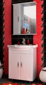 """Зеркало-шкаф для ванной """"БАЛИ 60"""" универсальное"""