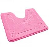 Коврик для туалета ШАХИНТЕКС розовый (500х600)