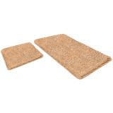 "Набор ковриков для ванной и туалета ШАХИНТЕКС ""бисквитный"" LAMA (600х500/600х900)"