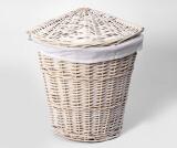 Плетеная корзина для белья с крышкой WasserKRAFT Vils WB-560-L