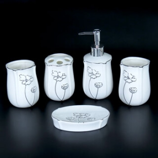 Набор для ванной комнаты керамика YU003-5